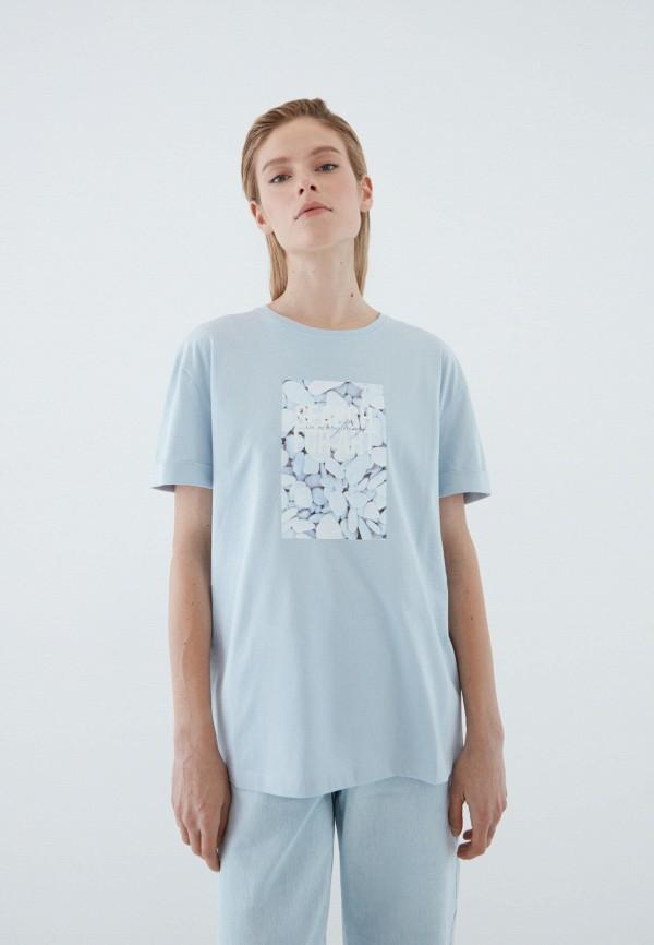 женская футболка zarina, голубая