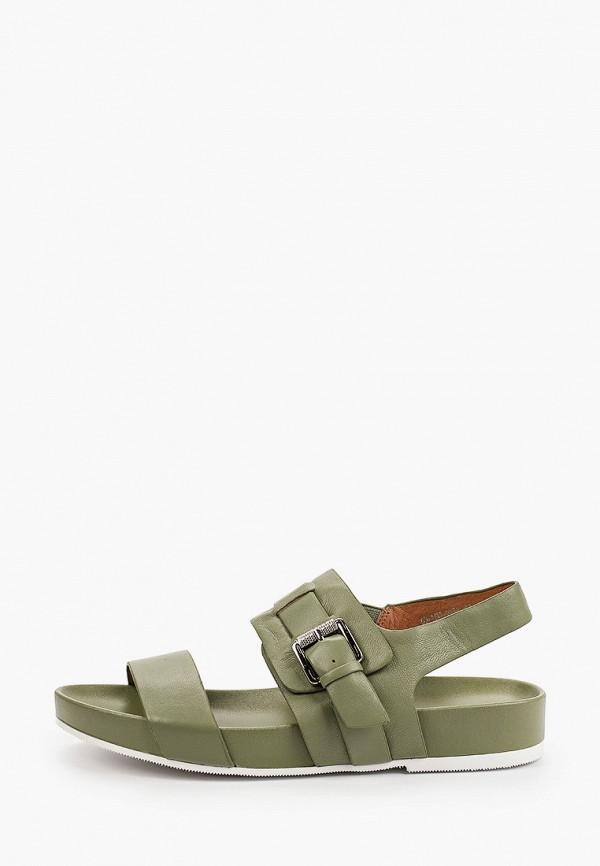 женские сандалии zenden, зеленые