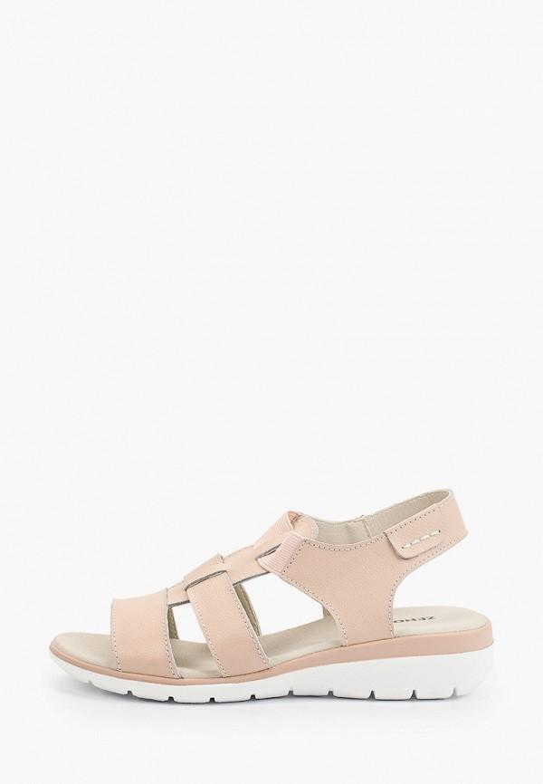 женские сандалии zenden, розовые