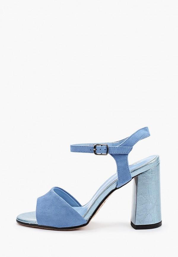 женские босоножки zenden, голубые