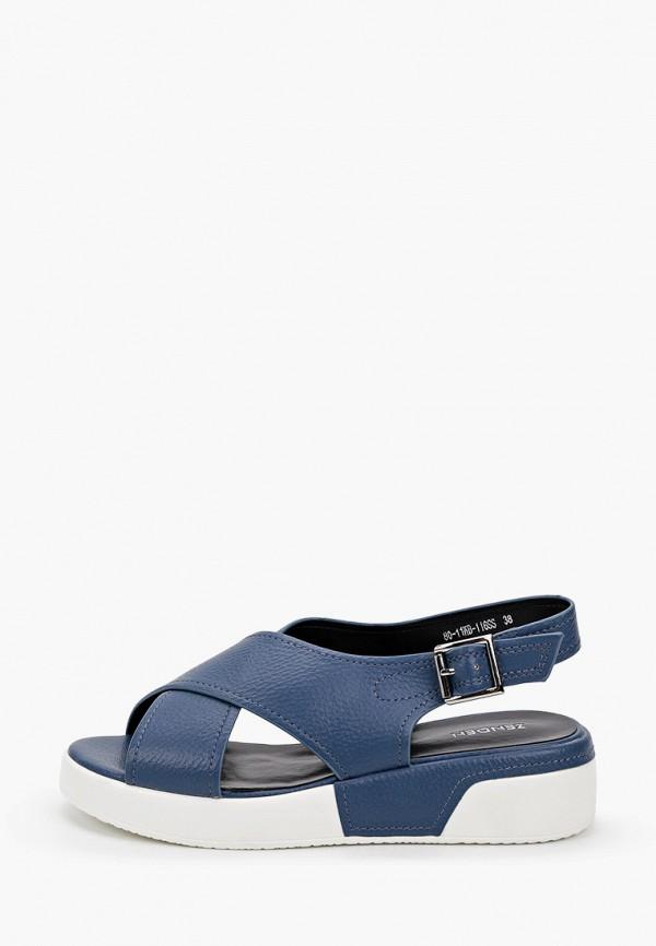 женские сандалии zenden, синие