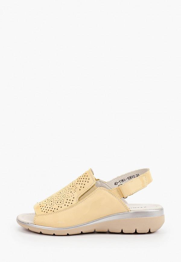 женские сандалии zenden, желтые