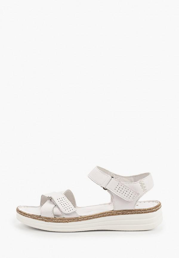 женские сандалии zenden, белые