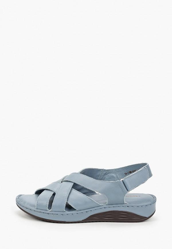 женские сандалии zenden comfort, синие