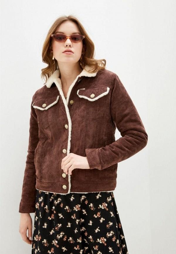 женская куртка dasti, коричневая