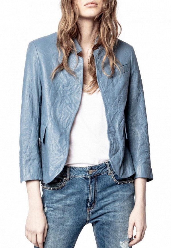 женская куртка zadig & voltaire, голубая