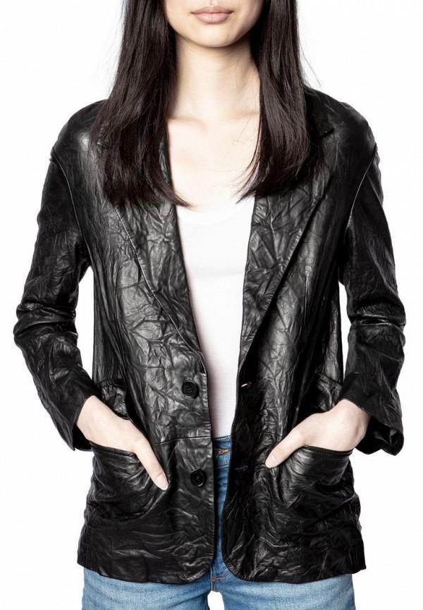 женская куртка zadig & voltaire, черная