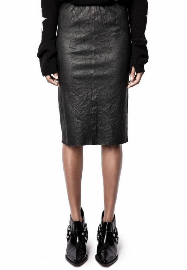женская юбка zadig & voltaire, черная