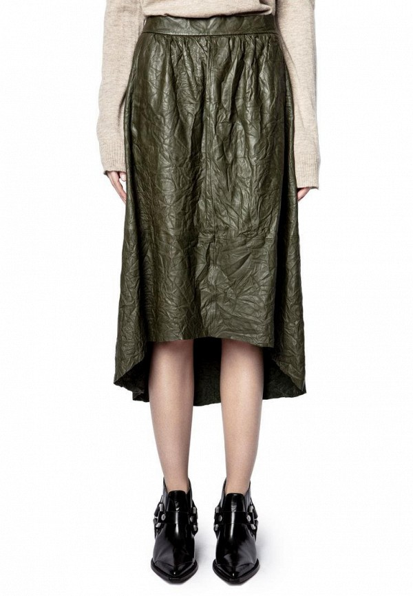 женская юбка zadig & voltaire, хаки