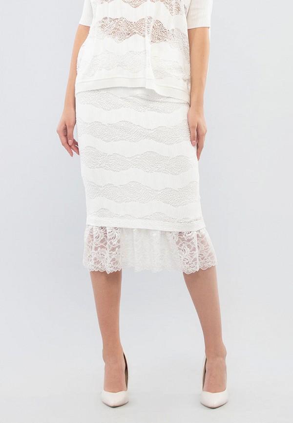 женская зауженные юбка maxa, белая