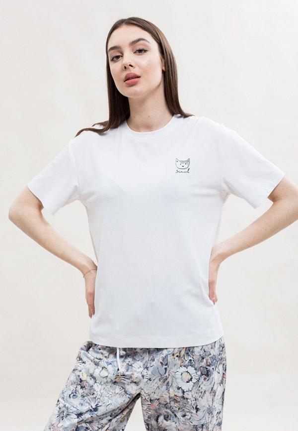 женская футболка maxa, белая