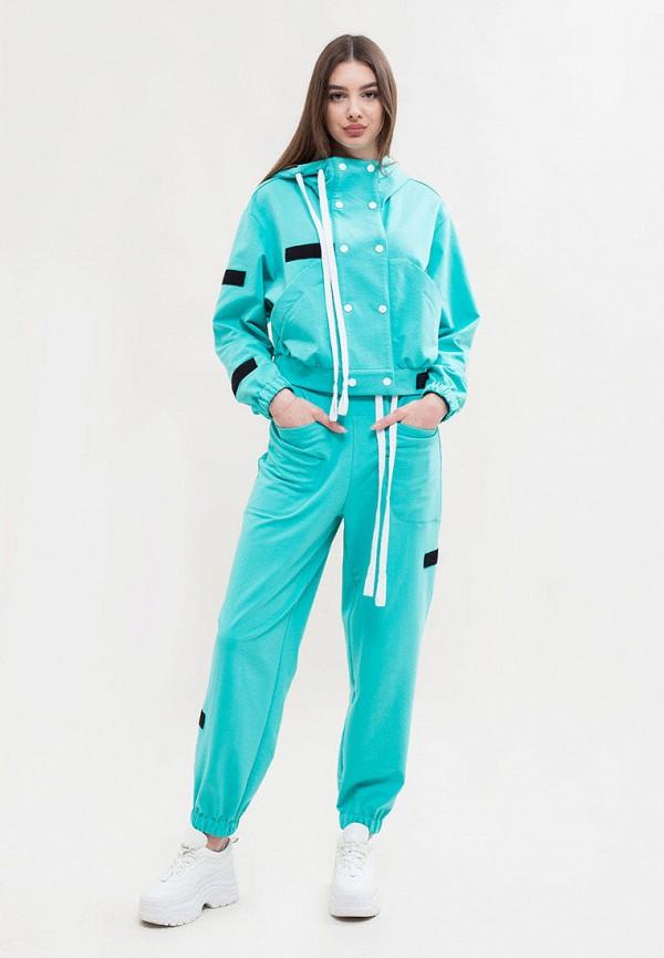 женский спортивный костюм maxa, бирюзовый