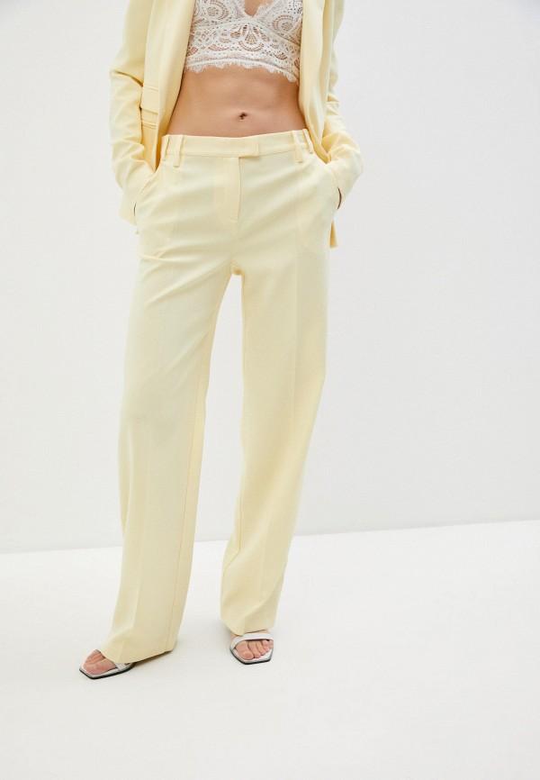 женские классические брюки patrizia pepe, желтые