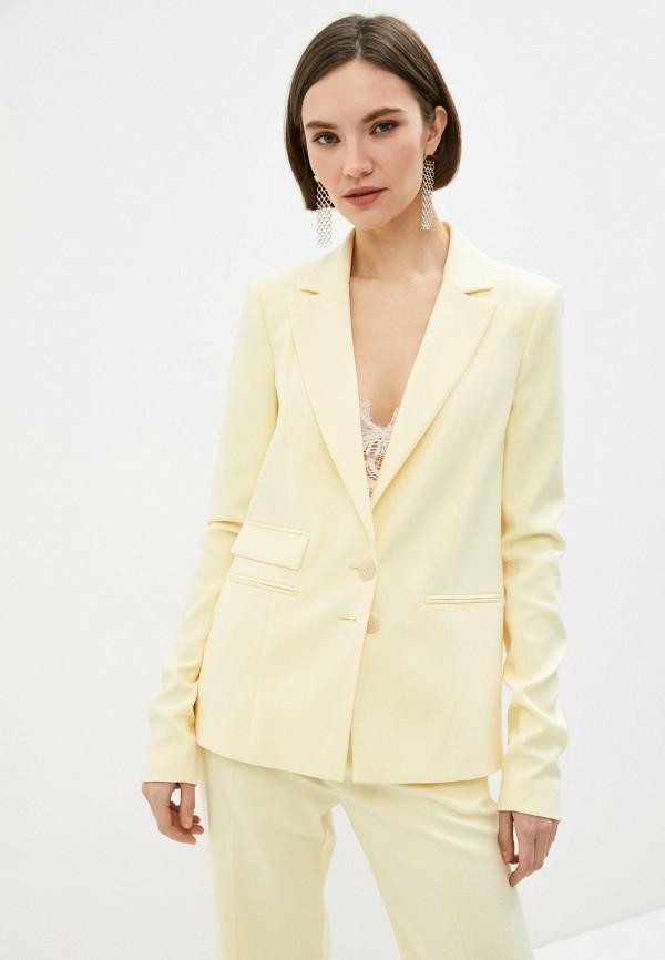 женский пиджак patrizia pepe, желтый