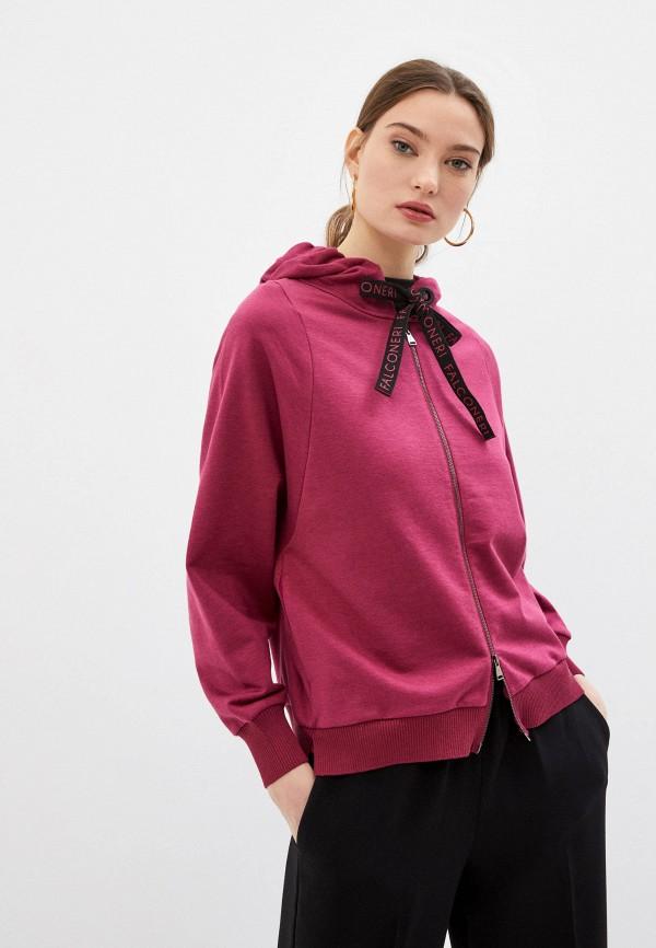 женская толстовка falconeri, розовая
