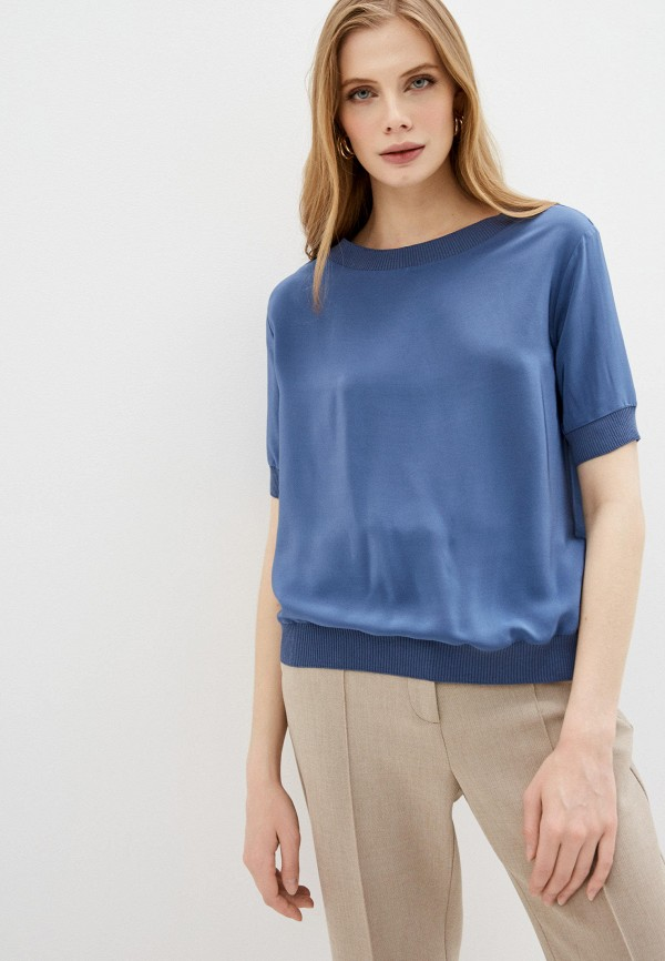 женская блузка falconeri, голубая