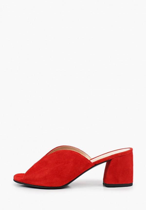 женское сабо argo, красное