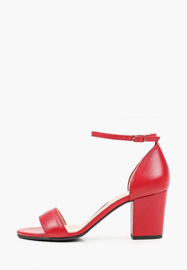 женские босоножки argo, красные