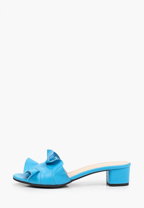 женское сабо argo, голубое