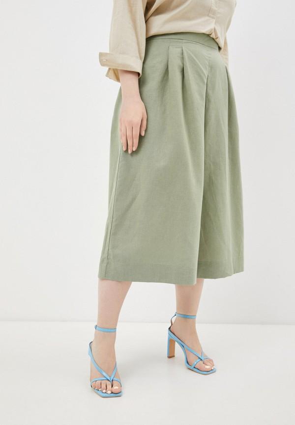 женские брюки клеш mark formelle, зеленые