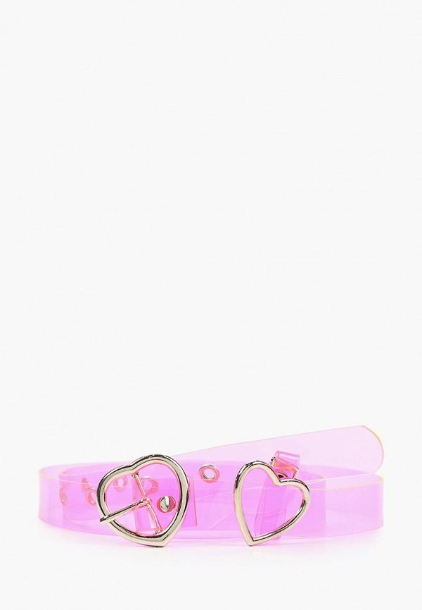 женский ремень silver fish, розовый
