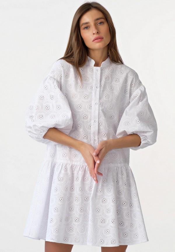 женское повседневные платье fly, белое