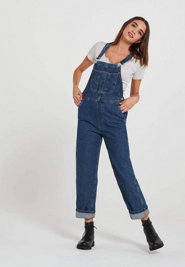 женский джинсовые комбинезон terranova, синий