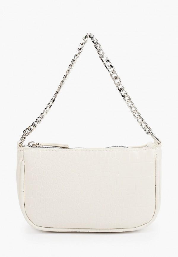 женская сумка с ручками befree, белая