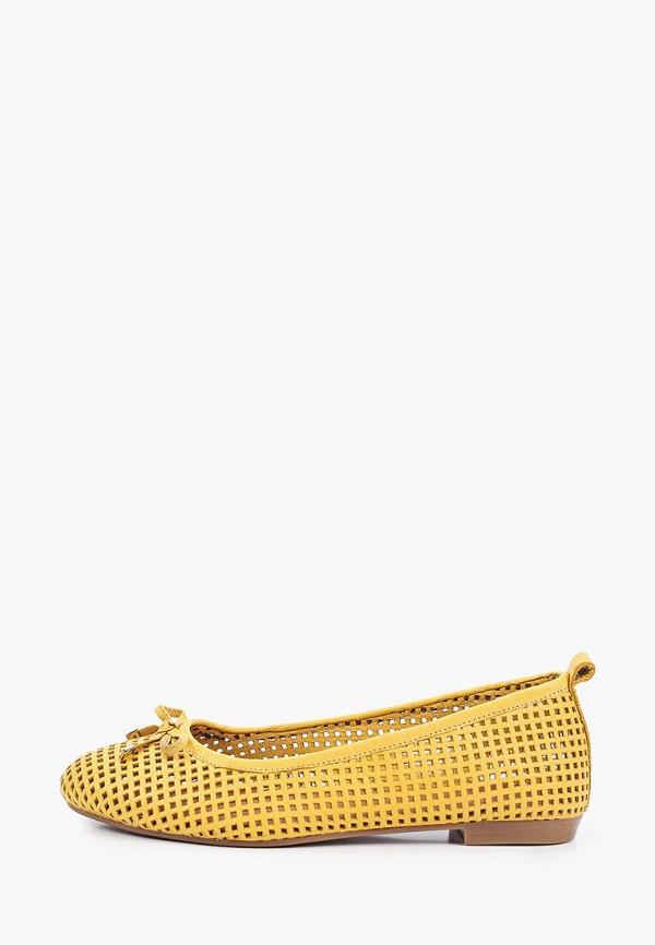 женские балетки valley, желтые