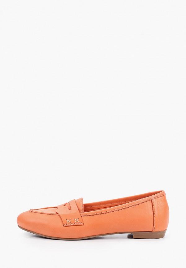 женские лоферы valley, оранжевые