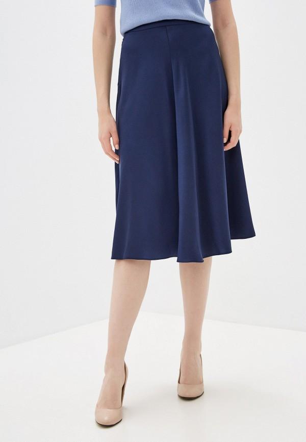 женская юбка-трапеции fnc, синяя