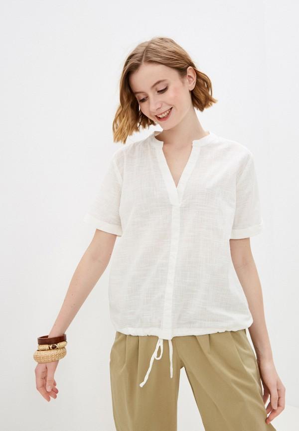 женская блузка с коротким рукавом baon, бежевая