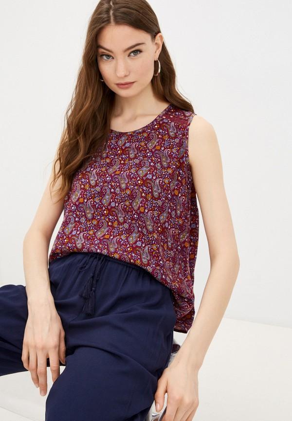 женская блузка без рукавов baon, фиолетовая