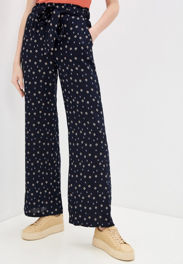 женские брюки джоггеры baon, синие