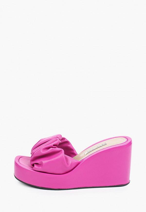 женское сабо marco bonne', фиолетовое