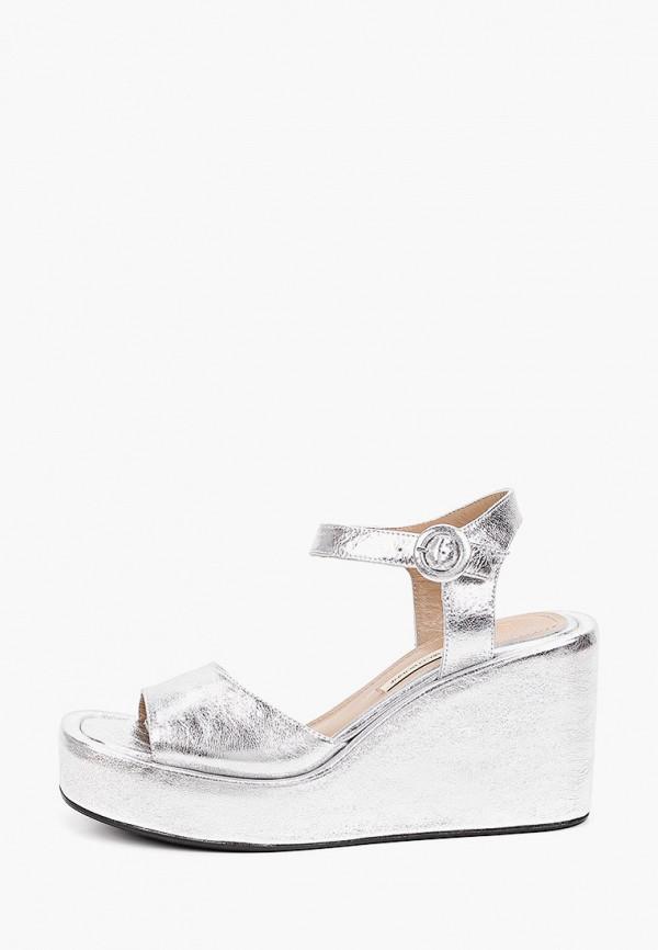 женские босоножки marco bonne', серебряные