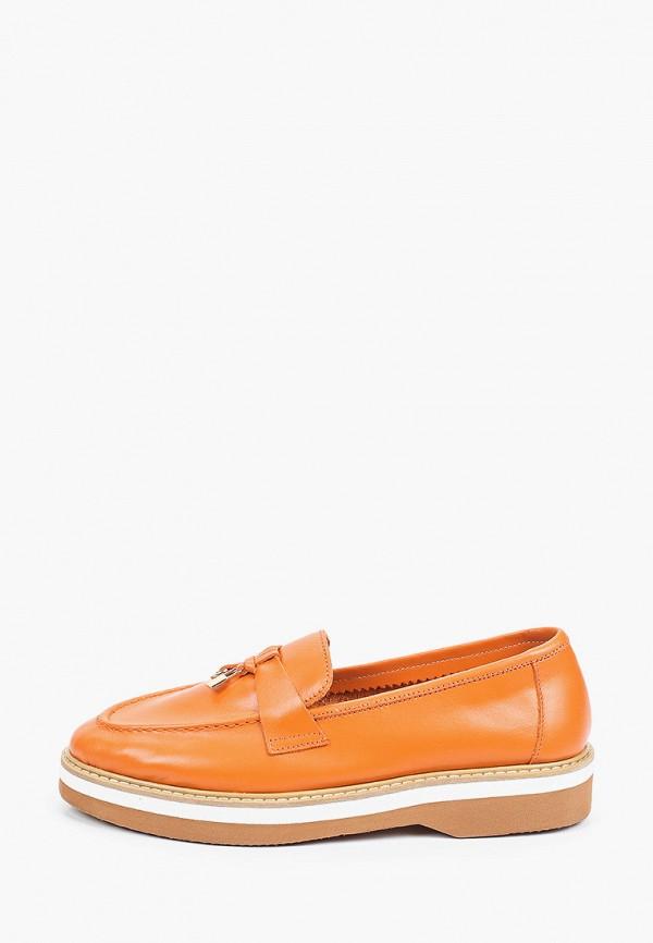 женские лоферы marco bonne', оранжевые