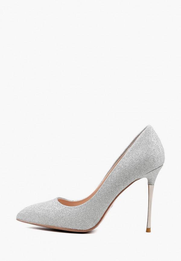 женские туфли basconi, серебряные