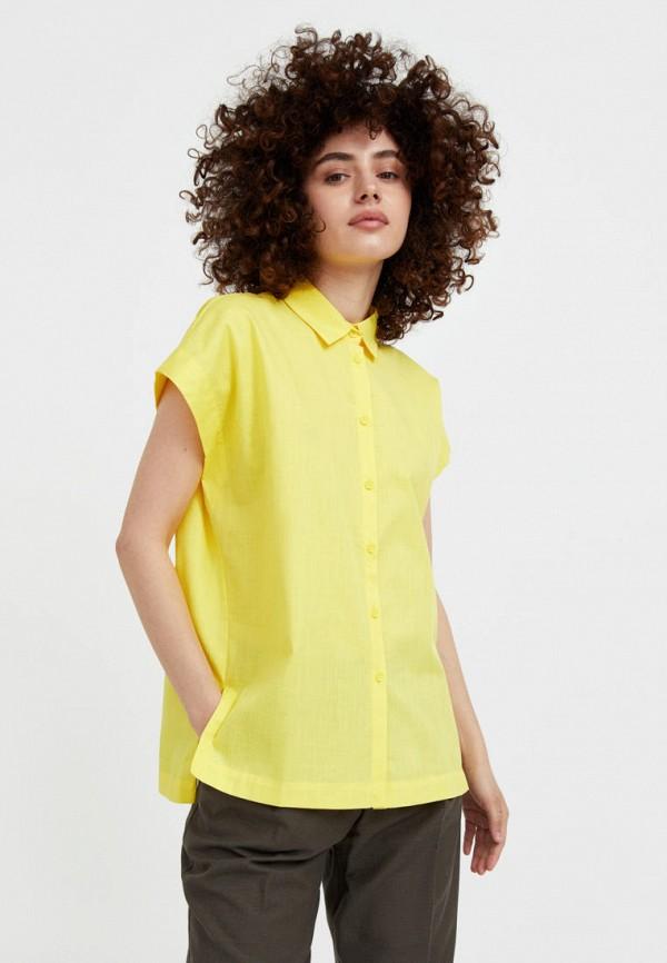 Рубашка Finn Flare желтого цвета