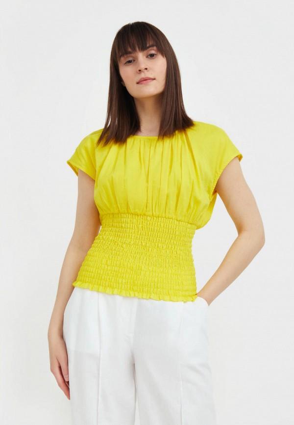 Блуза Finn Flare желтого цвета