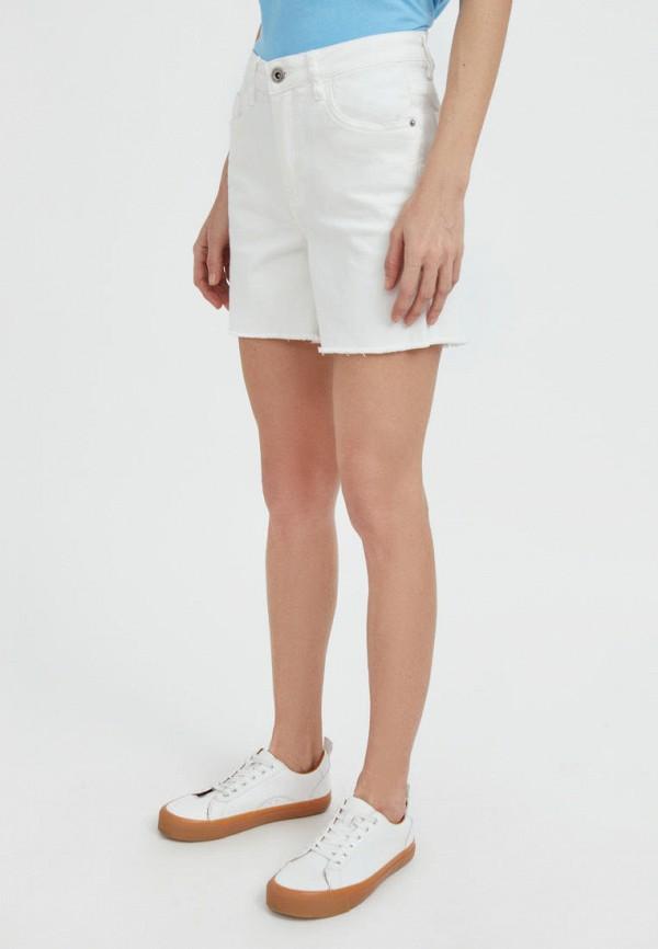 Шорты джинсовые Finn Flare белого цвета