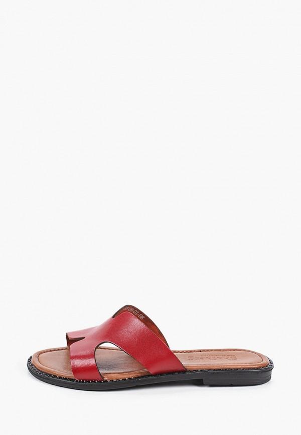 женское сабо shoiberg, красное