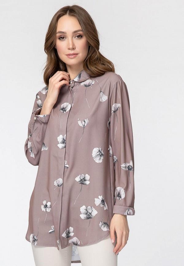 женская блузка с длинным рукавом vladi collection, бежевая