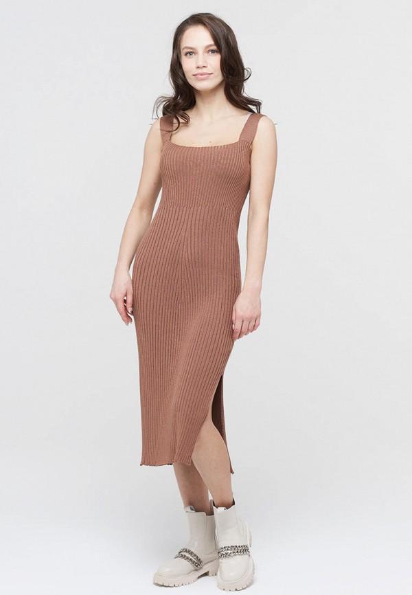 женское платье-свитеры vay, коричневое