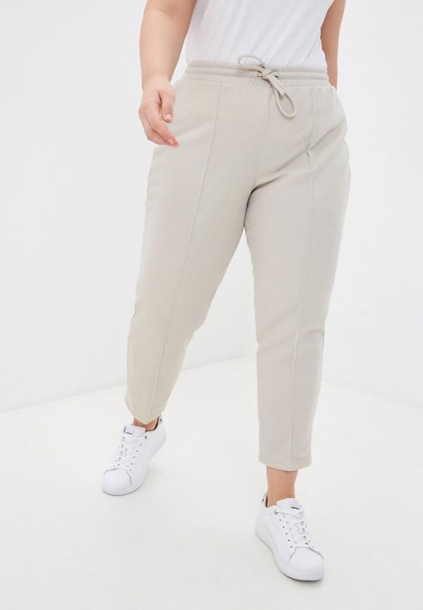 женские брюки джоггеры mark formelle, бежевые