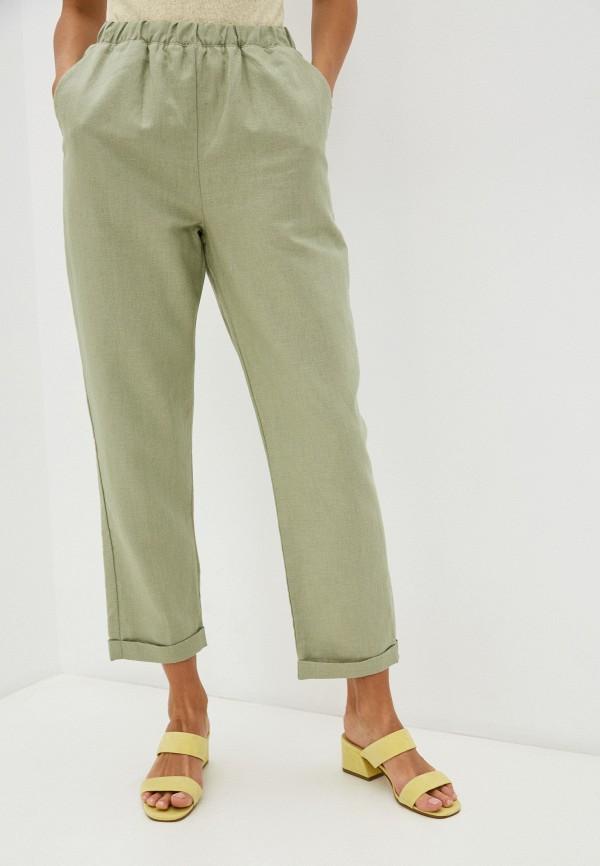 женские брюки джоггеры mark formelle, зеленые