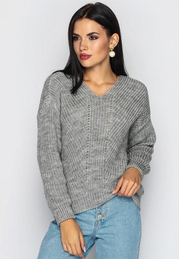 женский пуловер larionoff, серый