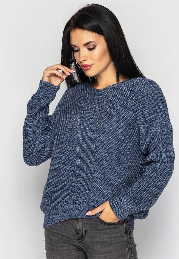 женский пуловер larionoff, синий