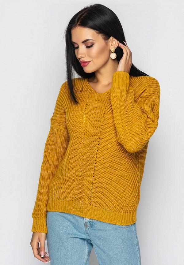 женский пуловер larionoff, оранжевый