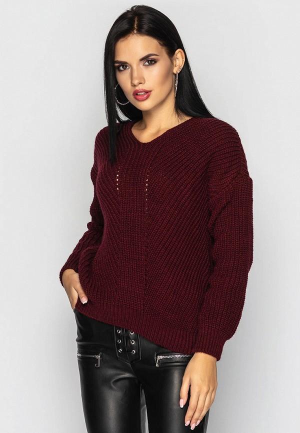 женский пуловер larionoff, бордовый